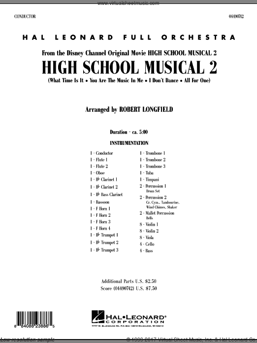 High School Musical 2 (COMPLETE) sheet music for full orchestra by Jamie Houston