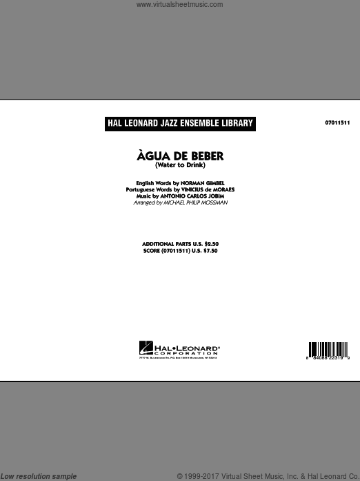 Agua de Beber (Water to Drink) (COMPLETE) sheet music for jazz band by Antonio Carlos Jobim