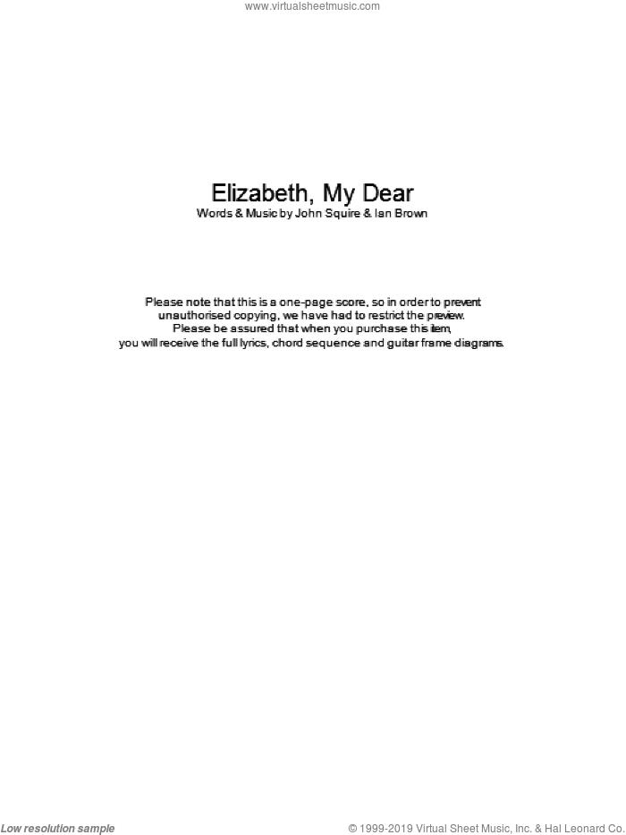 Roses Elizabeth My Dear Sheet Music For Guitar Chords Pdf