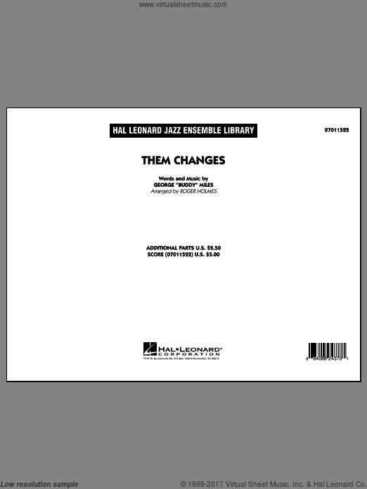 Them Changes (COMPLETE) sheet music for jazz band by Buddy Miles