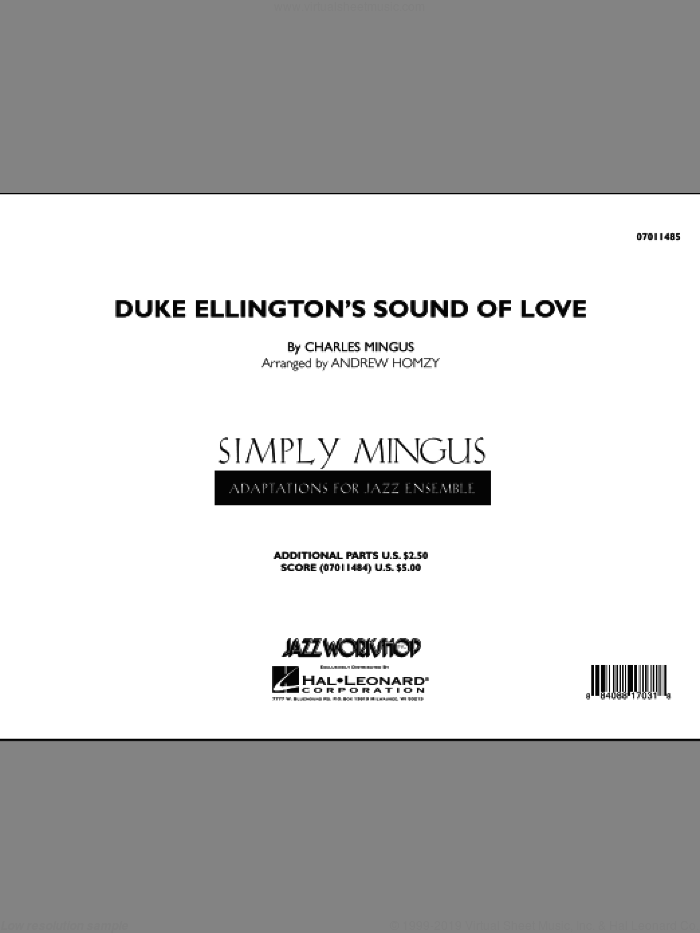 Duke Ellington's Sound of Love (COMPLETE) sheet music for jazz band by Charles Mingus and Andrew Homzy, intermediate skill level