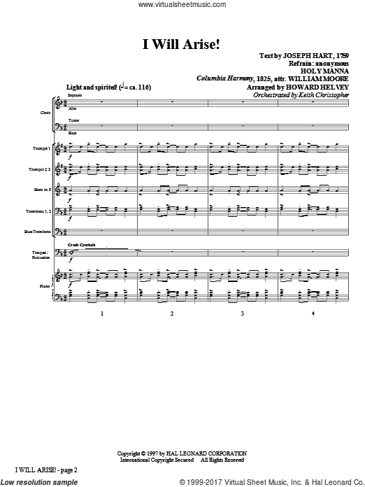 I Will Arise! (COMPLETE) sheet music for orchestra by Joseph Hart