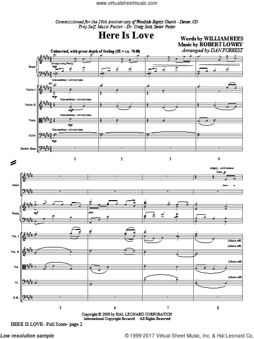 Here Is Love (COMPLETE) sheet music for orchestra by Robert Lowry