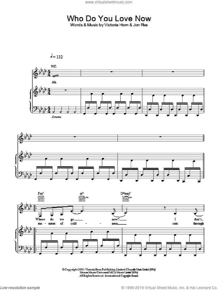 Who Do You Love Now sheet music for voice, piano or guitar by Davide Riva. Score Image Preview.