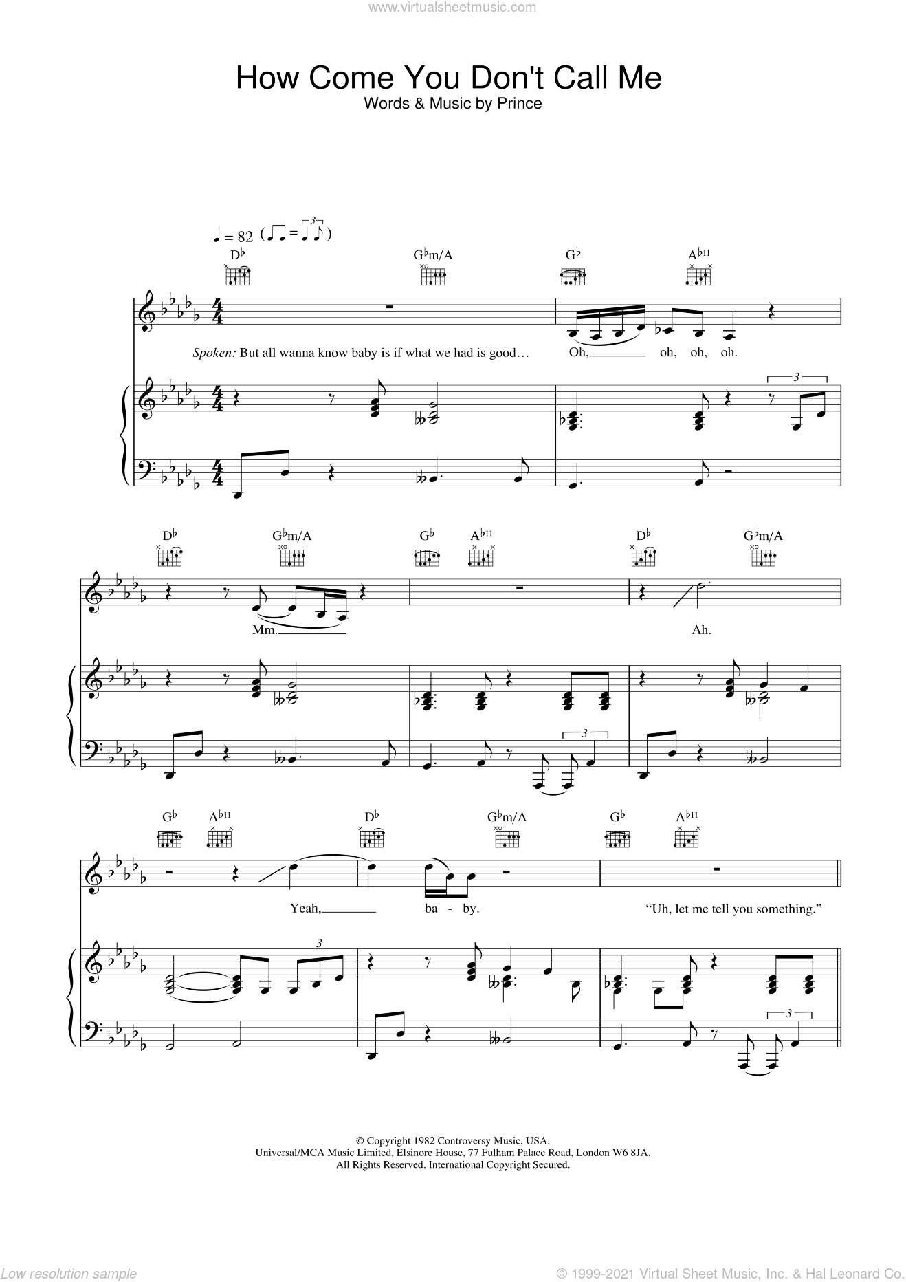 How Come You Don't Call Me sheet music for voice, piano or guitar by Alicia Keys. Score Image Preview.