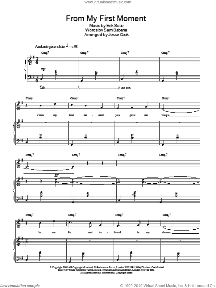 From My First Moment sheet music for voice, piano or guitar by Charlotte Church