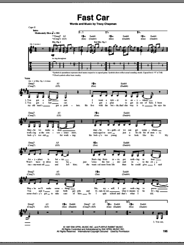 Bitch sheet music for guitar (tablature) by Meredith Brooks and Shelly Peiken, intermediate skill level
