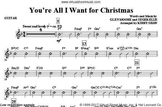 You're All I Want for Christmas (COMPLETE) sheet music for orchestra by Glen Moore