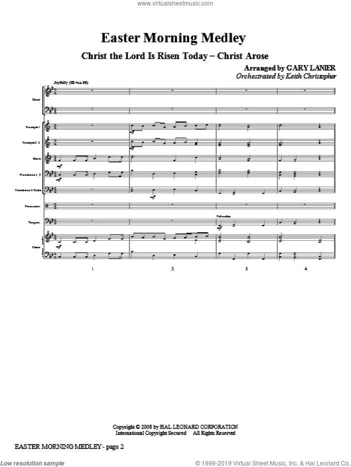 Easter Morning Medley sheet music for orchestra/band (full score) by Charles Wesley