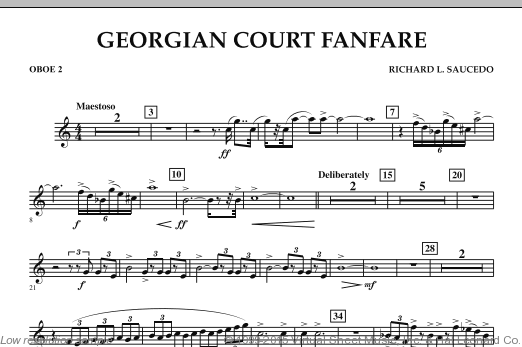 Georgian Court Fanfare (COMPLETE) sheet music for concert band by Richard L. Saucedo