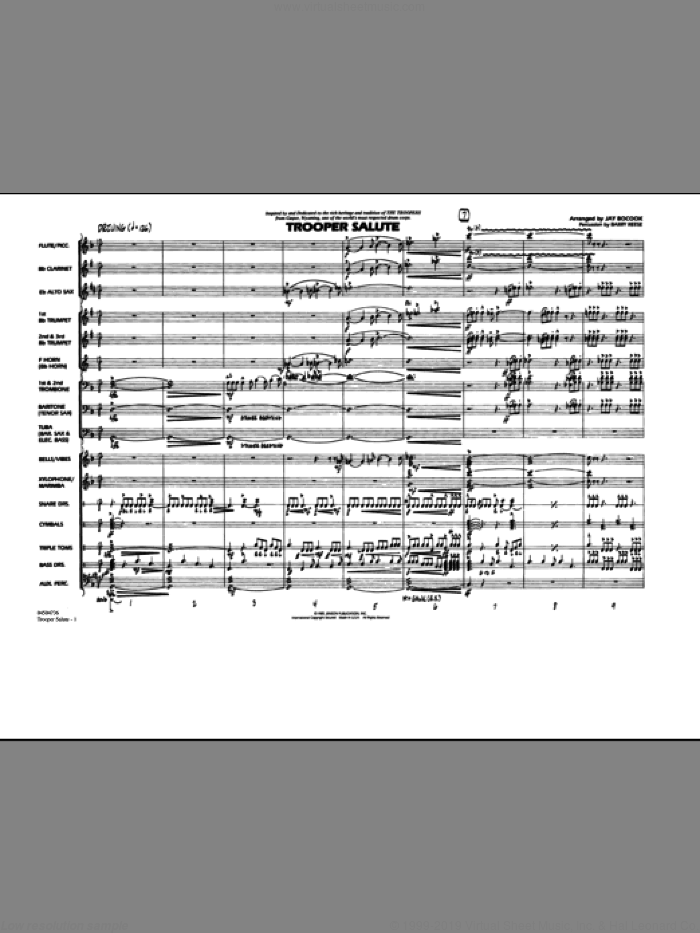 Trooper Salute sheet music for marching band (full score) by Jay Bocook