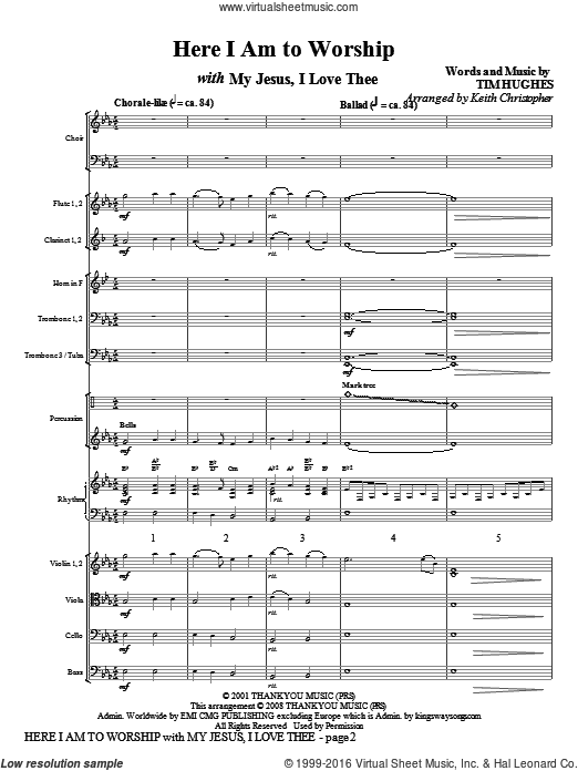 Here I Am To Worship with My Jesus, I Love Thee (COMPLETE) sheet music for orchestra by Keith Christopher, intermediate orchestra. Score Image Preview.