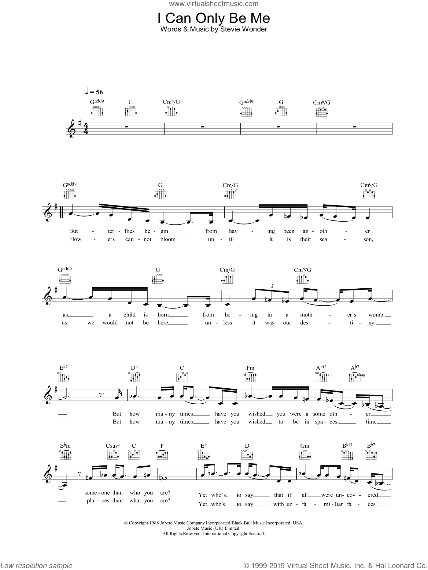 I Can Only Be Me sheet music for voice and other instruments (fake book) by Eva Cassidy, intermediate skill level