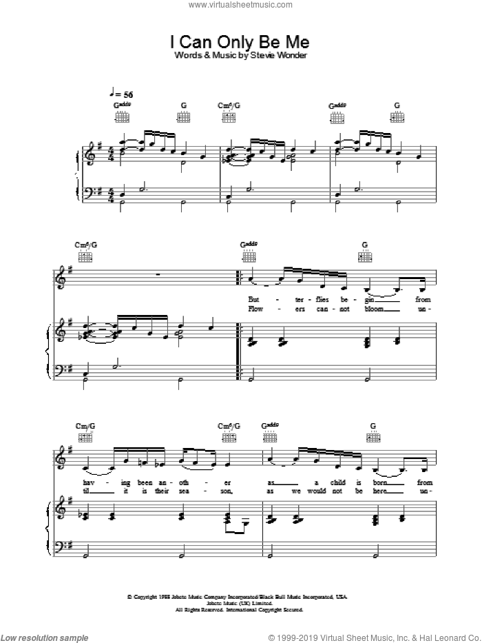 I Can Only Be Me sheet music for voice, piano or guitar by Eva Cassidy. Score Image Preview.