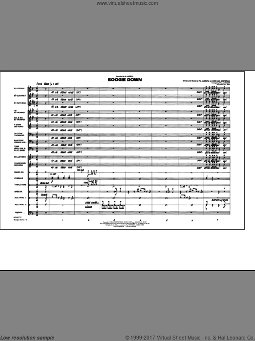 Boogie Down (COMPLETE) sheet music for marching band by Michael Omartian