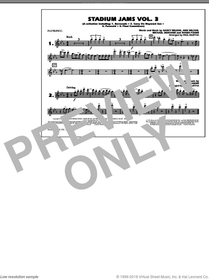 Stadium Jams, volume 3 sheet music for marching band (flute/piccolo) by Paul Murtha, intermediate skill level