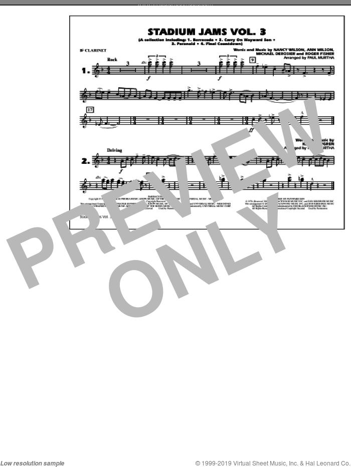 Stadium Jams, volume 3 sheet music for marching band (Bb clarinet) by Paul Murtha, intermediate skill level