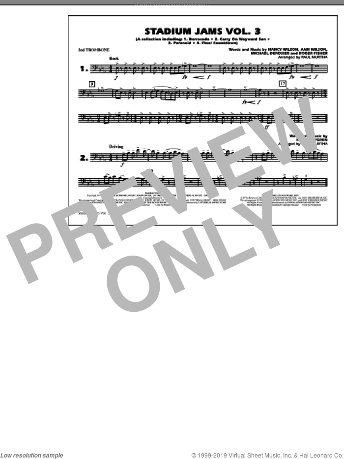 Stadium Jams, volume 3 sheet music for marching band (baritone b.c.) by Paul Murtha, intermediate skill level