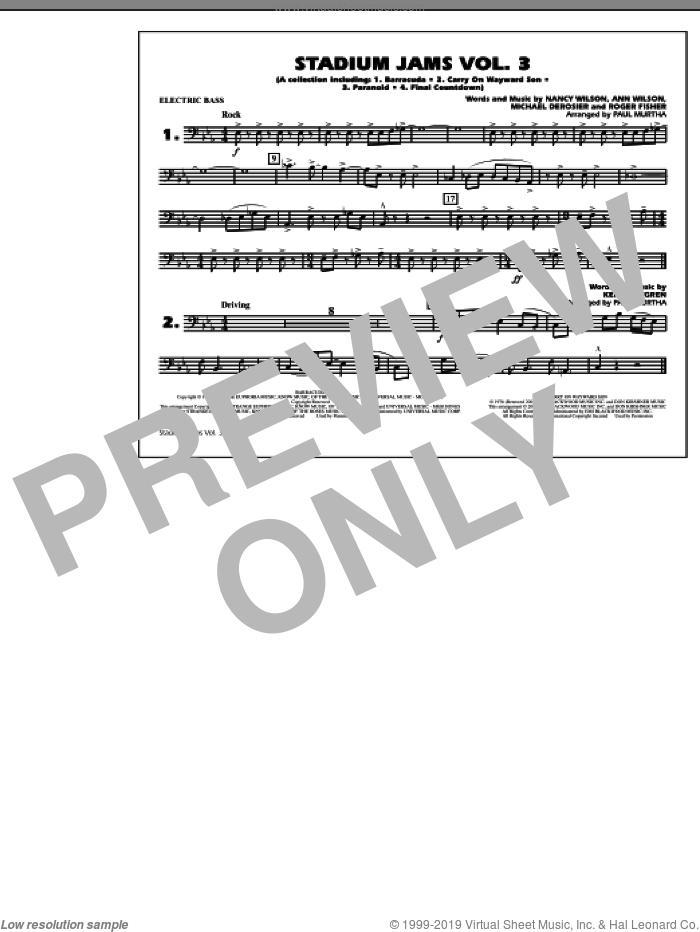 Stadium Jams, volume 3 sheet music for marching band (electric bass) by Paul Murtha, intermediate skill level