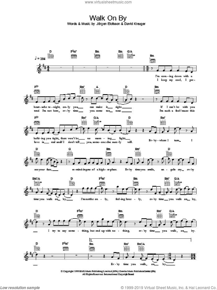 Gates - Walk On By sheet music (fake book) [PDF]