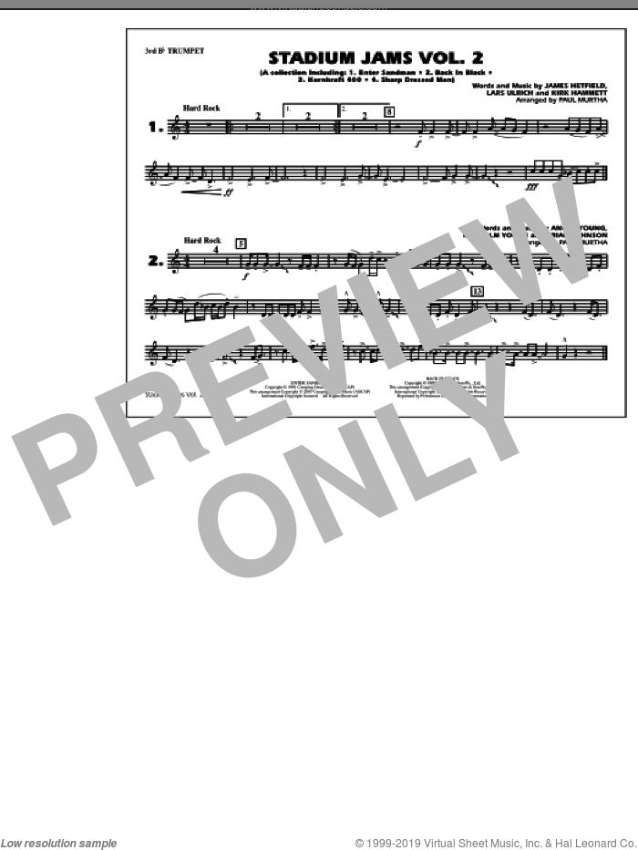 Stadium Jams, vol. 2 sheet music for marching band (3rd Bb trumpet) by Paul Murtha, intermediate skill level