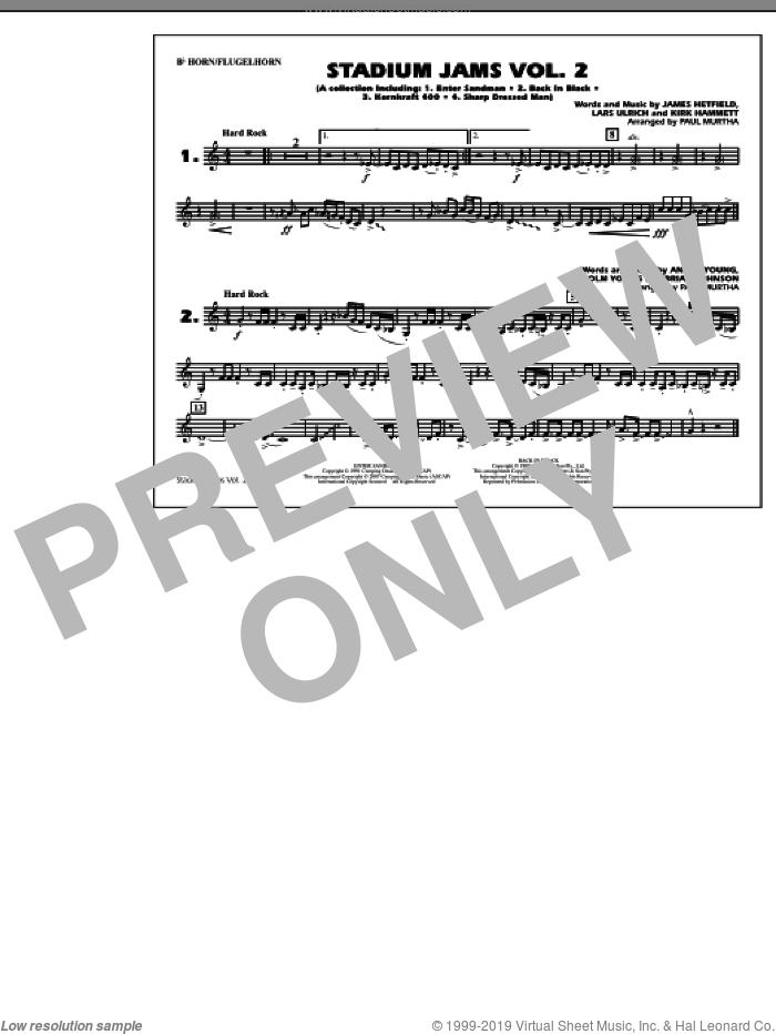 Stadium Jams, vol. 2 sheet music for marching band (Bb horn/flugelhorn) by Paul Murtha, intermediate skill level