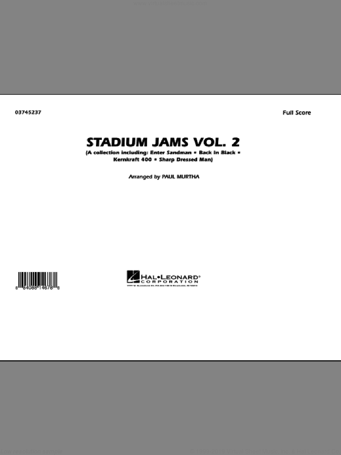 Stadium Jams - Vol. 2 (COMPLETE) sheet music for marching band by Paul Murtha, intermediate skill level