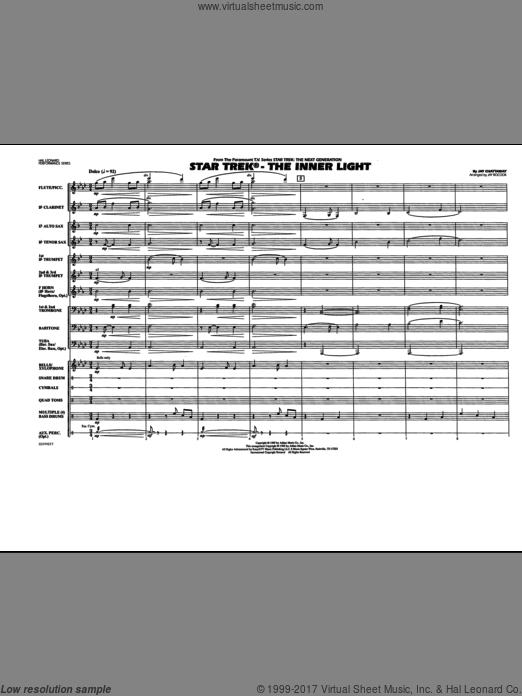Star Trek, the inner light (COMPLETE) sheet music for marching band by Jay Chattaway