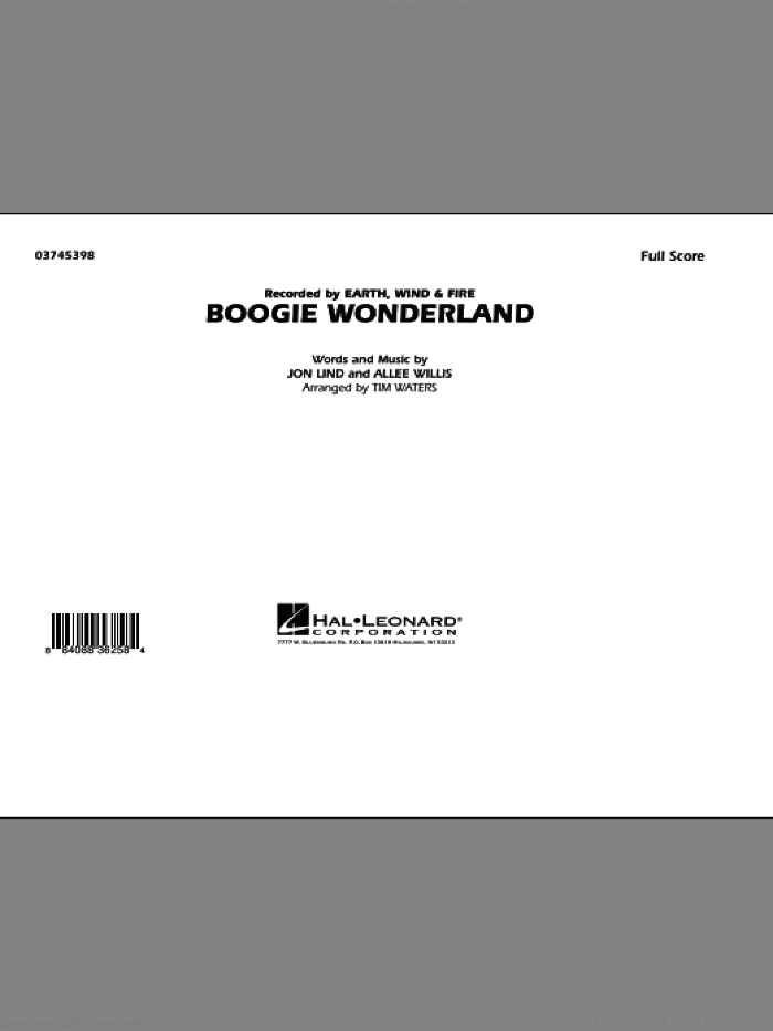 Boogie Wonderland (COMPLETE) sheet music for marching band by Allee Willis, Jon Lind, Earth, Wind & Fire and Tim Waters, intermediate marching band. Score Image Preview.