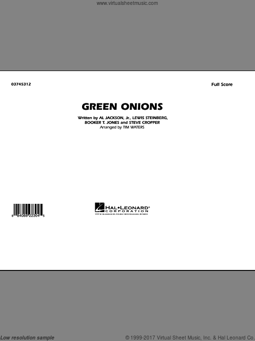 Green Onions (COMPLETE) sheet music for marching band by Tim Waters