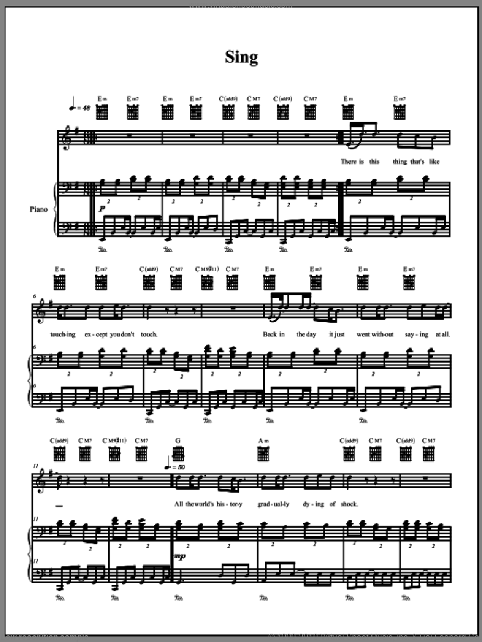 Sing sheet music for voice, piano or guitar by The Dresden Dolls and Amanda Palmer. Score Image Preview.
