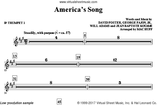 America's Song (COMPLETE) sheet music for orchestra by David Foster