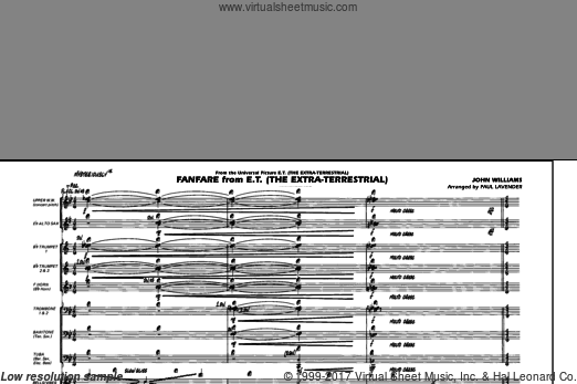 Fanfare from E.T. (The Extra-Terrestrial) (COMPLETE) sheet music for marching band by John Williams