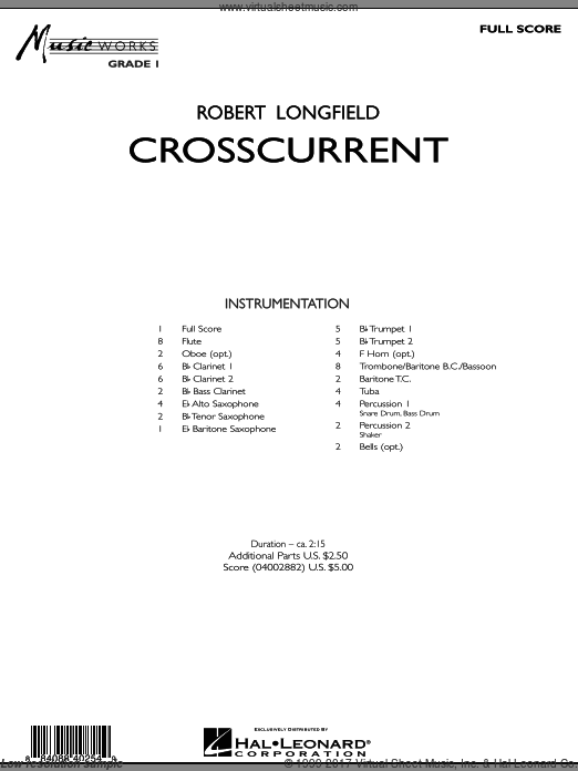 Crosscurrent (COMPLETE) sheet music for concert band by Robert Longfield