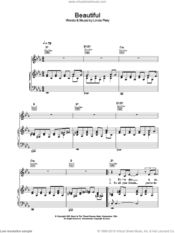 Beautiful sheet music for voice, piano or guitar by Alex Parks, intermediate
