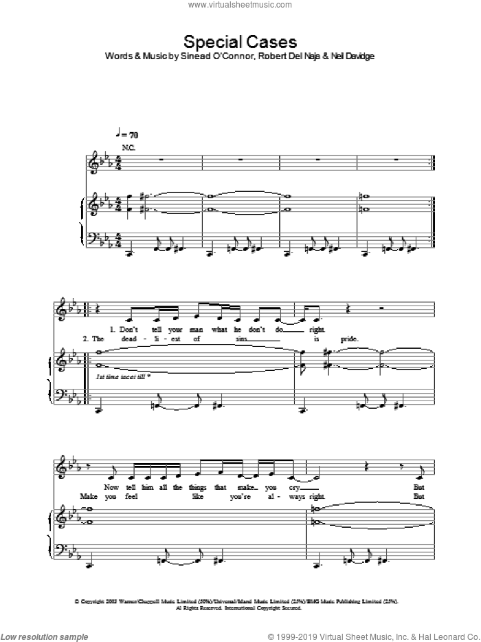Special Cases sheet music for voice, piano or guitar by Massive Attack. Score Image Preview.