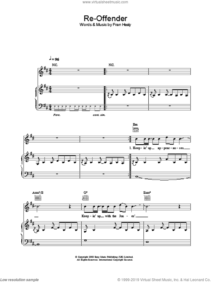 Re-Offender sheet music for voice, piano or guitar by Merle Travis. Score Image Preview.