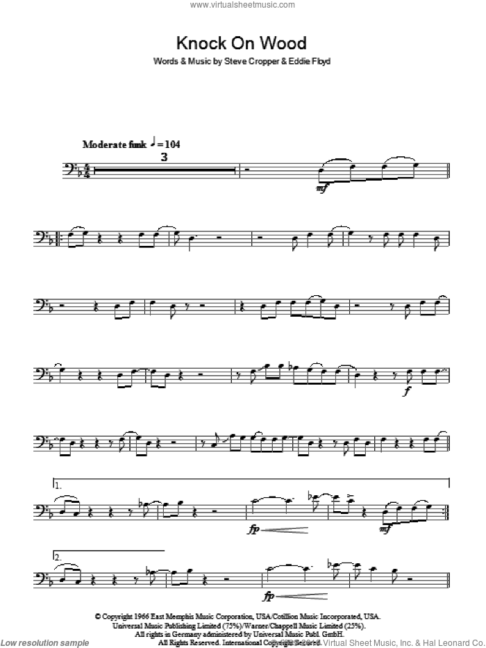Knock On Wood sheet music for voice, piano or guitar by Steve Cropper and Eddie Floyd. Score Image Preview.