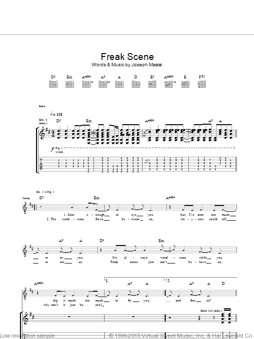 A-Punk sheet music for guitar (chords, lyrics, melody) by Christopher Baio