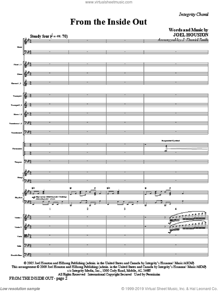 From the Inside Out (COMPLETE) sheet music for orchestra/band (Orchestra) by Joel Houston and J. Daniel Smith, intermediate skill level