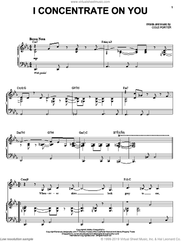 I Concentrate On You sheet music for voice and piano by Steve Tyrell and Cole Porter, intermediate skill level