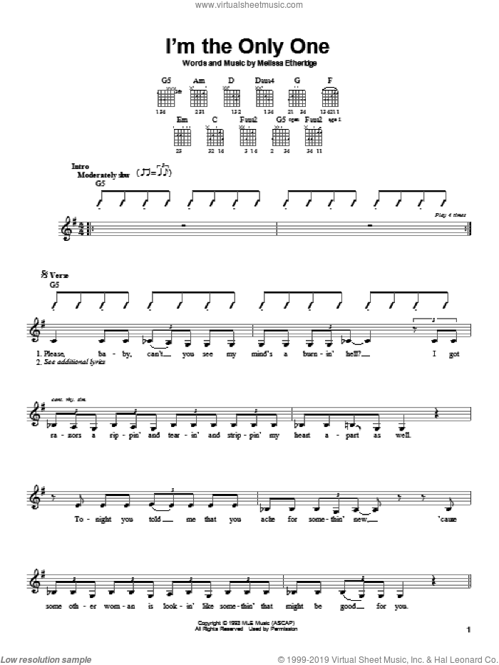 Ain't It Heavy sheet music for guitar solo (chords) by Melissa Etheridge, easy guitar (chords). Score Image Preview.