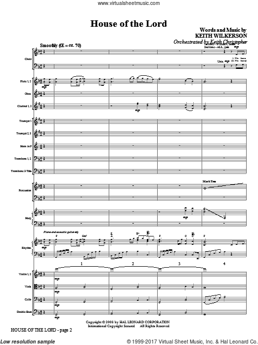 House Of The Lord (COMPLETE) sheet music for orchestra by Keith Wilkerson