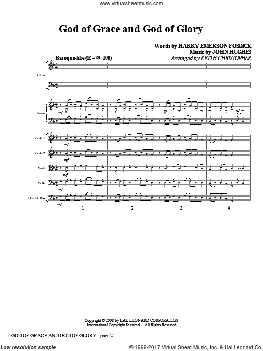 God Of Grace And God Of Glory (COMPLETE) sheet music for orchestra by Harry Emerson Fosdick