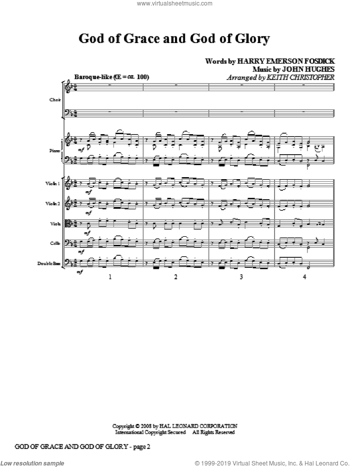 God Of Grace And God Of Glory (COMPLETE) sheet music for orchestra/band (Special) by John Hughes, Harry Emerson Fosdick and Keith Christopher, intermediate skill level