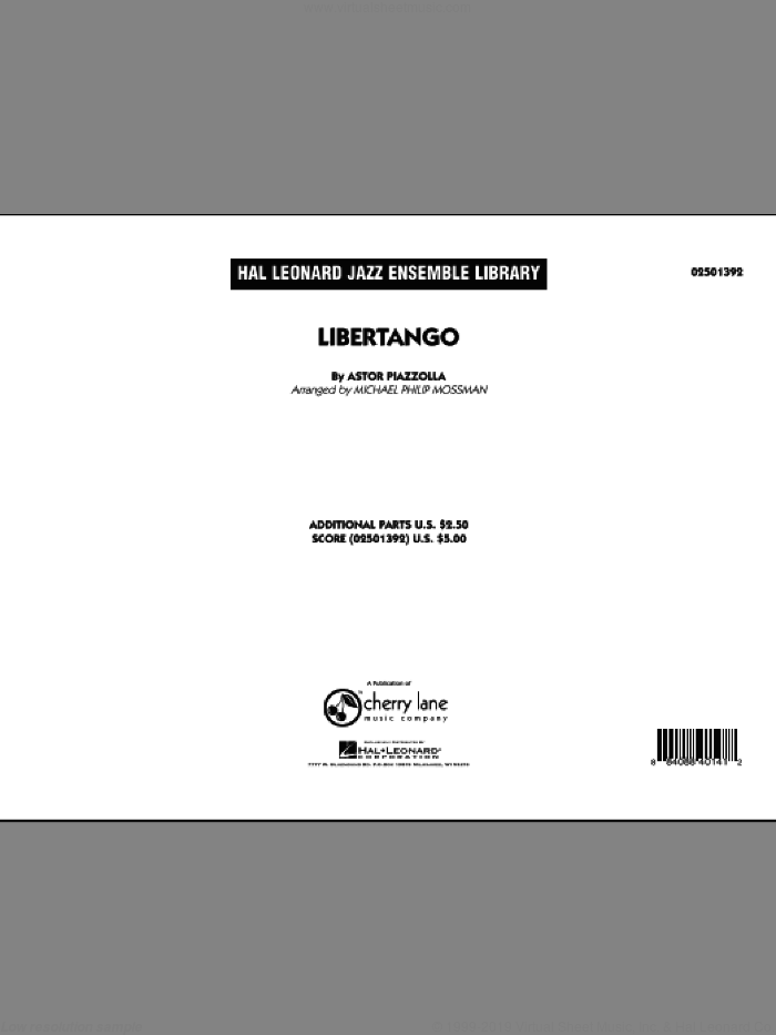 Piazzolla - Libertango sheet music (complete collection) for jazz band