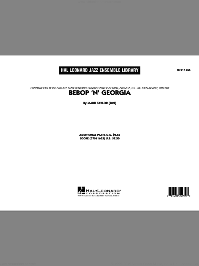 Bebop 'n' Georgia (COMPLETE) sheet music for jazz band by Mark Taylor, intermediate skill level