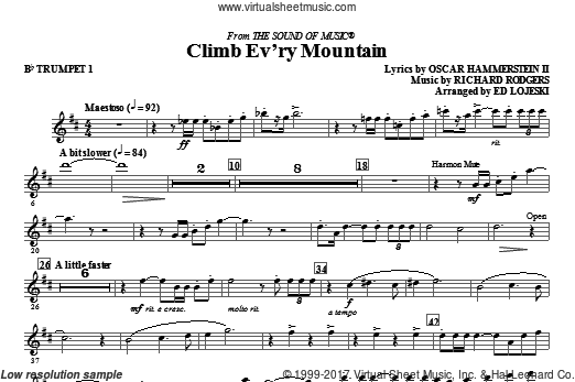 Climb Ev'ry Mountain (COMPLETE) sheet music for orchestra by Oscar II Hammerstein