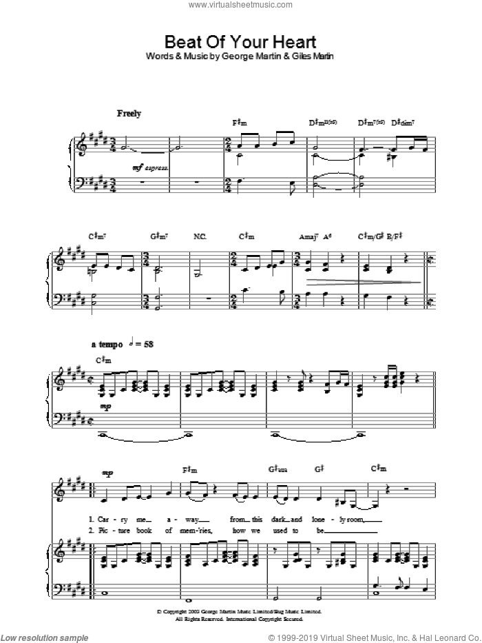 Beat Of Your Heart sheet music for voice, piano or guitar by Hayley Westenra