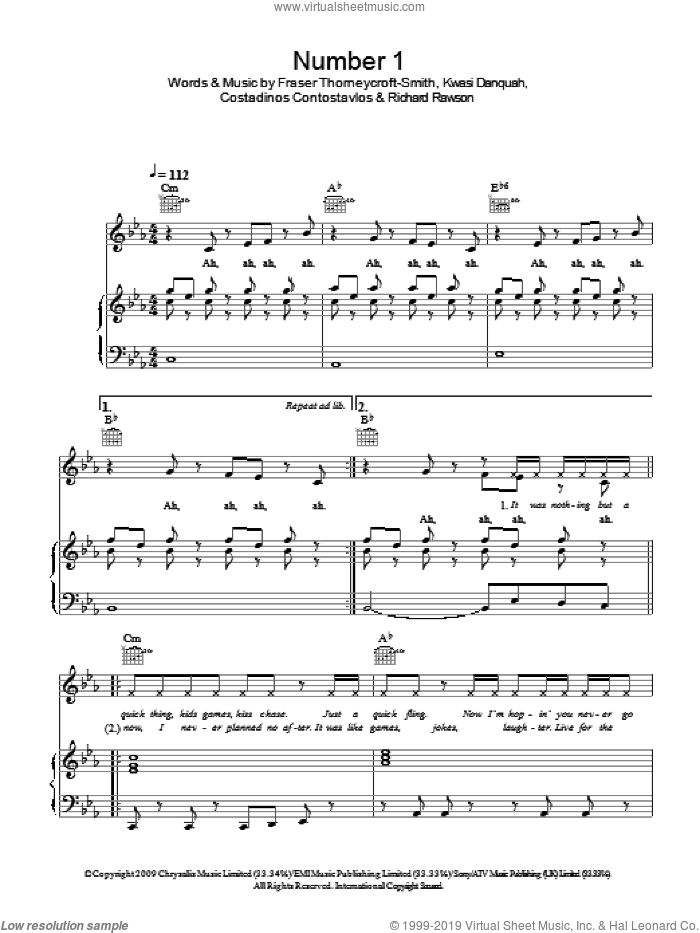Number 1 sheet music for voice, piano or guitar by Richard Rawson